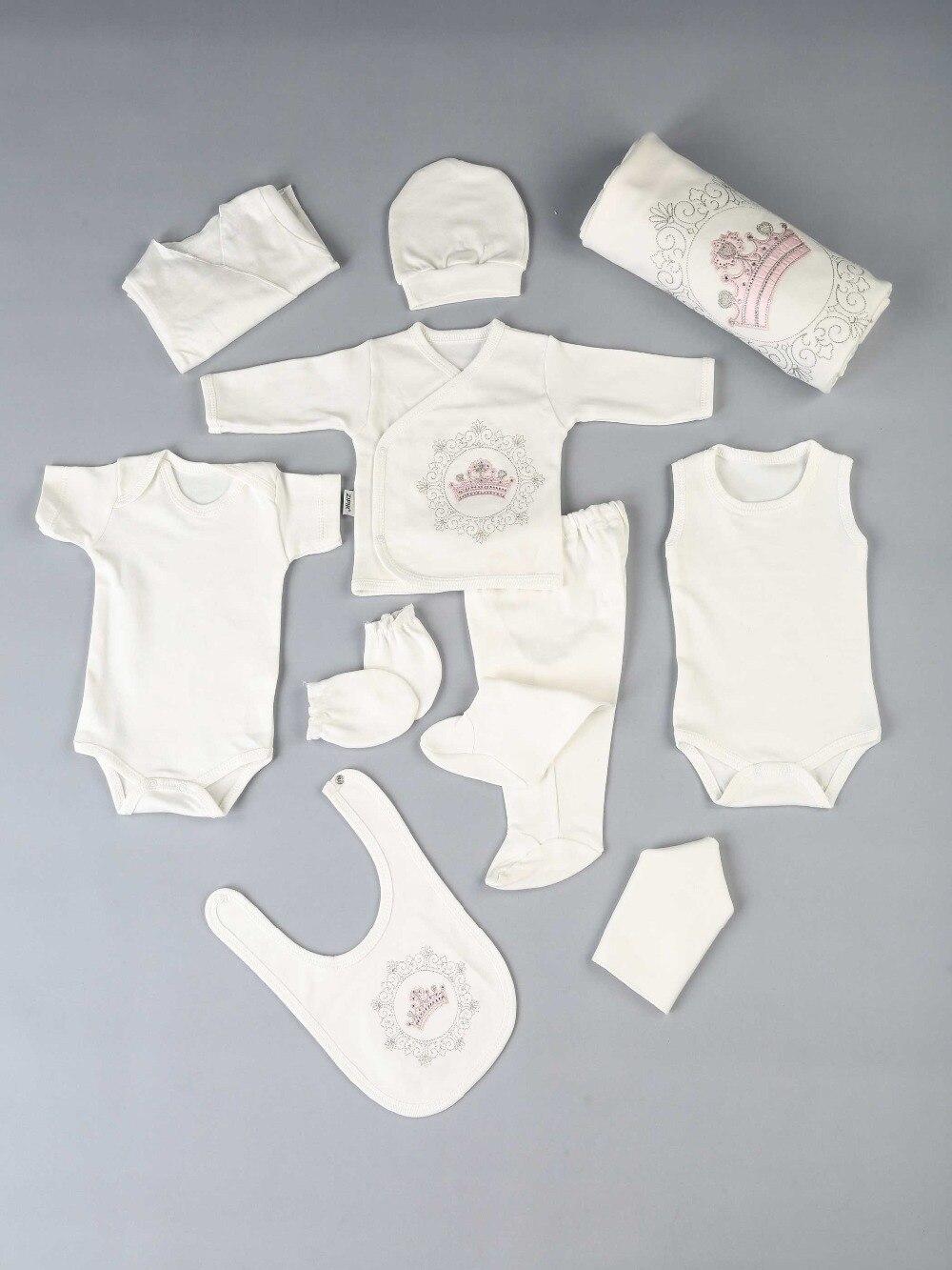 082-522-021 Pembe Kraliçe Taçlı Yenidoğan Kız Bebek 10 lu Hastane Çıkışı (1)