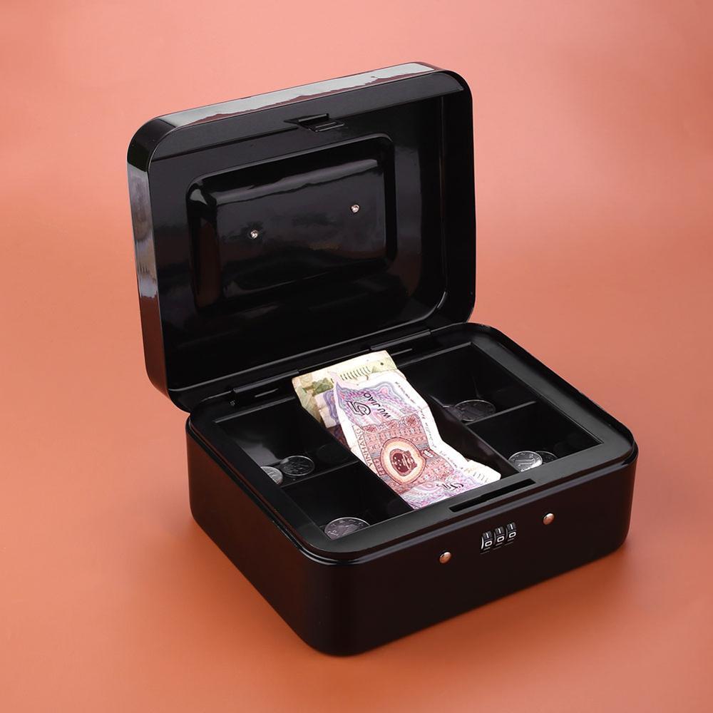 Mini Petty Cash Portable  Money Box Security Lock Lockable Safe Small Fit For House Decoration Surveillance Valuable B