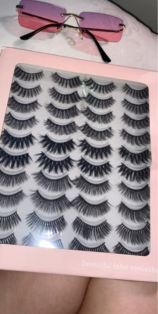 2/8/20 Pairs 3D Mink Lashes Natural False Eyelashes Dramatic Volume Fake Lashes Makeup Eyelash Extension Silk Eyelashes