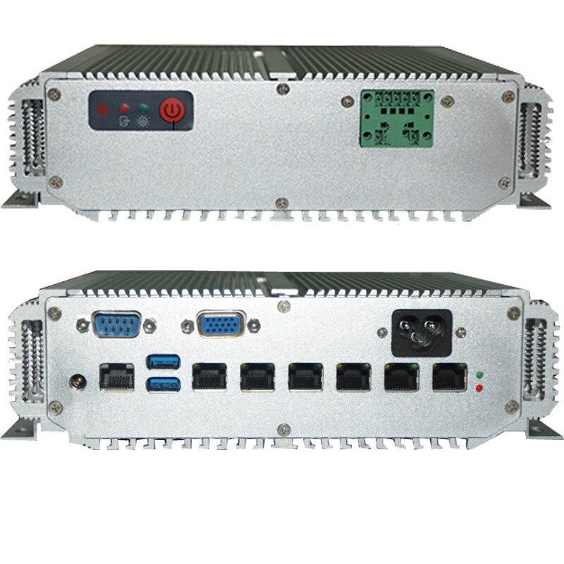6 Lan Port 1u Rack Mount Server Intel 3865U CPU Fanless Mini Pc 1u Firewall Server Appliance