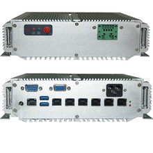 6 lan porta 1u montagem em rack servidor intel 3865u cpu fanless mini pc 1u firewall dispositivo de servidor