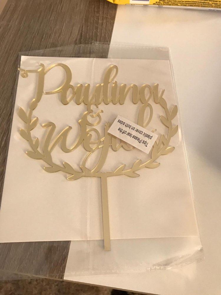 Materiais p/ decoração de bolo Personalizados Rústica Acrílico