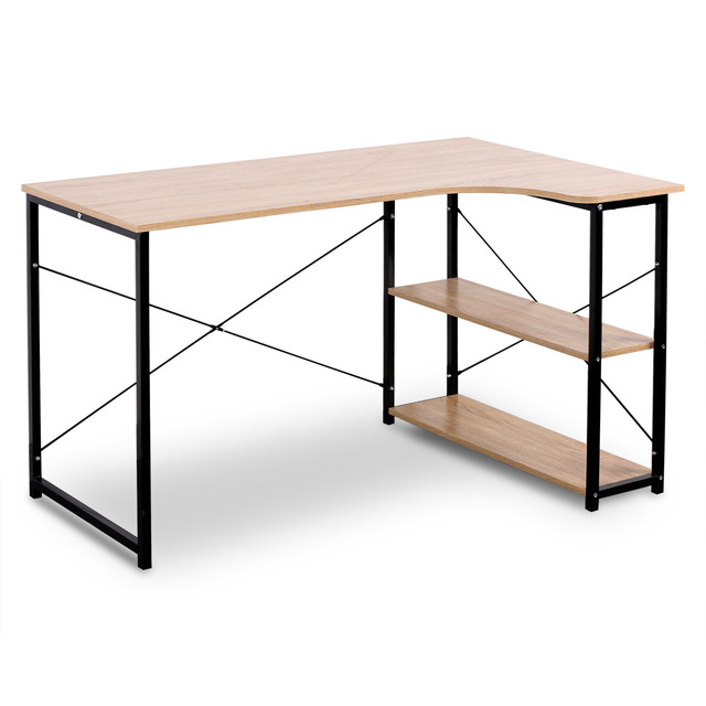 1PC Computer Desk Office Desk Workstation L-Shaped Study Writing Desk Computer PC Laptop Table Workstation Dining Gaming Table