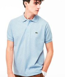 LACOSTE POLO L1264 HEATHER poloshirts fashion short sleeve color blue grisaceo BRand Crocodile for men