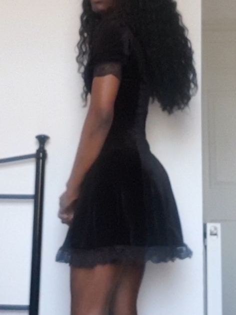 Aesthetic Vintage Lace Black Dress photo review