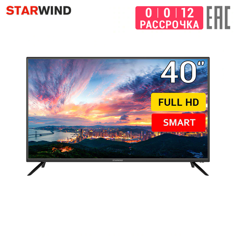 "TV Led StarWind 40 ""sw-led40sa301 Full HD Smart TV 4049inchTV Dvb Dvb-t Dvb-t2 Digital"