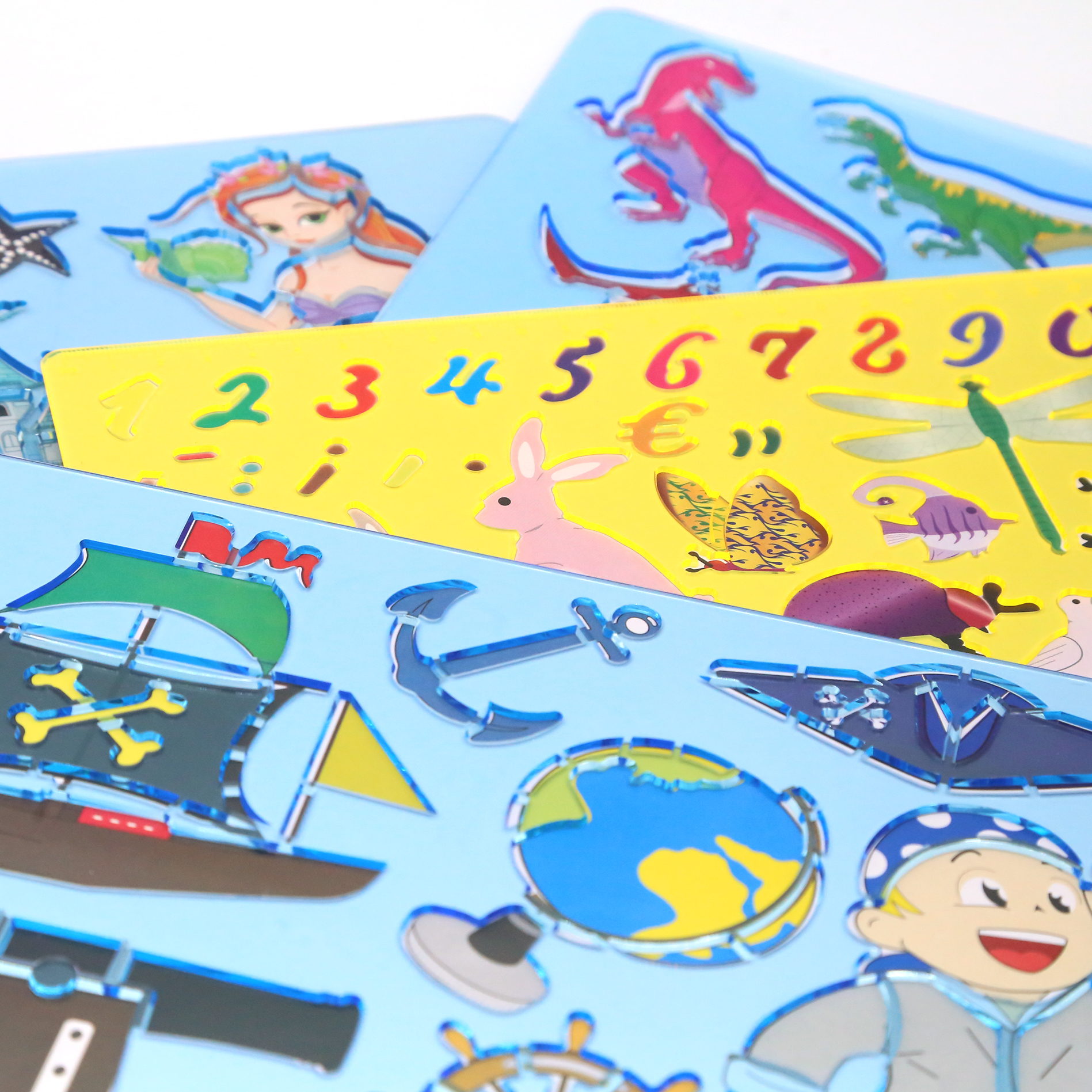 1ud Platilla For Draw's Rule Template Painting For Kids's Puzzle Stationery Supplies