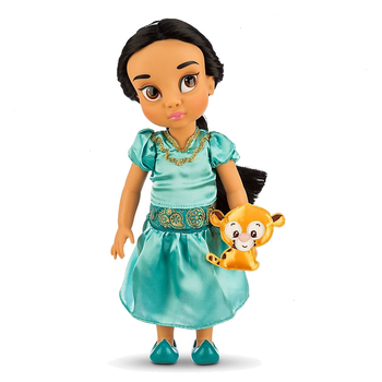 Muñeca Jasmine de Disney con mascota, animadores de Disney