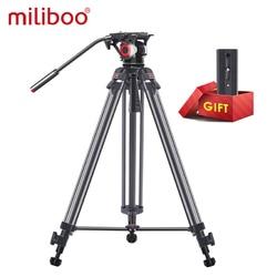 Miliboo MTT606 Professional Camera Tripod Lightweight Video Tripod/Dslr Tripod Fluid Head 2.9KG Weight Damping video with tripod