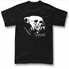 Английский бульдог Мужская футболка с графическим изображением