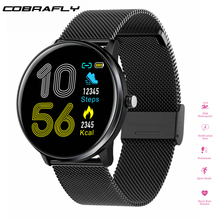 Cobrafly men women Smart watch Full screen touch IP68 waterproof Heart Rate monitor fitness tracker Smartwatch For IOS Android