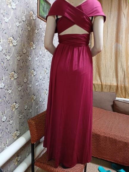Sexy Women Multiway Wrap Convertible Boho Maxi Club Red Dress Bandage Long Dress Party Bridesmaids Infinity Robe Longue Femme Dresses    - AliExpress