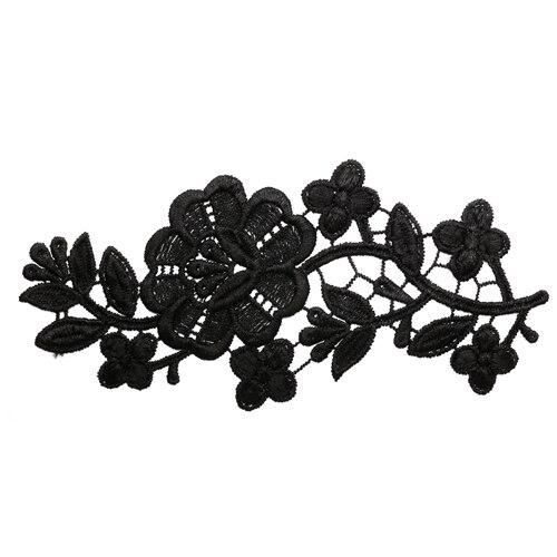 2797325 Appliques Sewn Lais Polyester 21*9 Cm Black