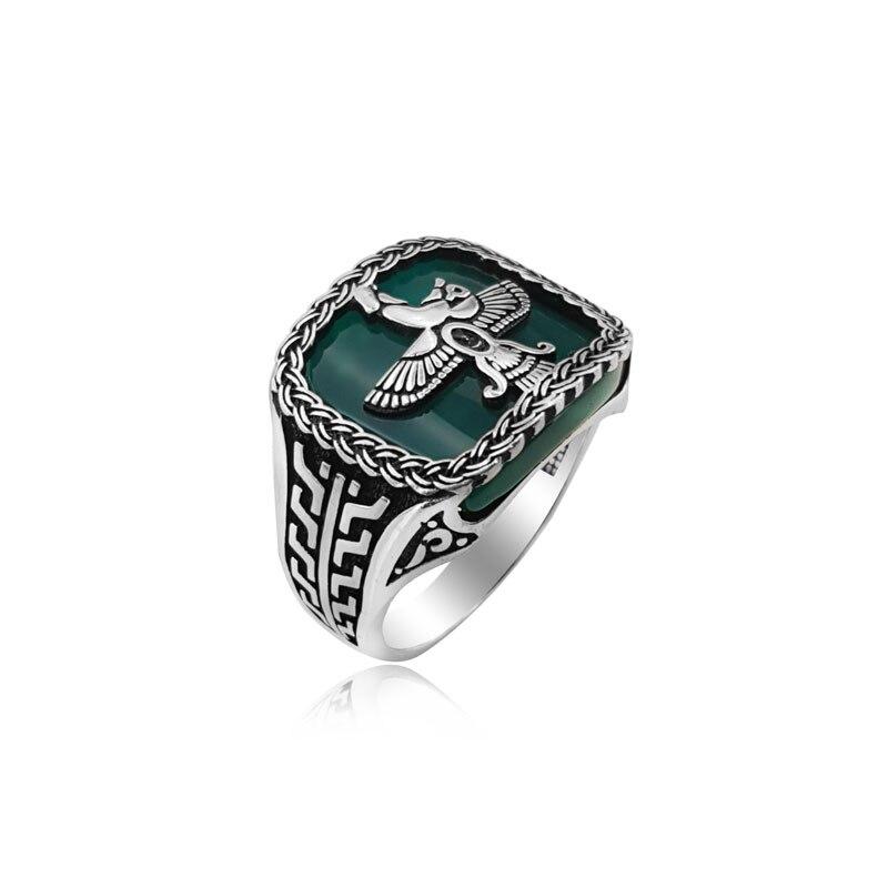 925 серебряные этнические персидские кольца традиционные кольца из агата