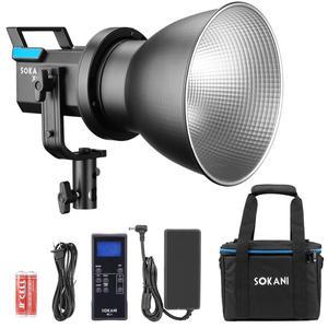 Sokani X60 COB LED Video Light 80W 5600K Daylight Lighting Effect Wirelessly Adjust Brightness Bowens Mount PK Aputure 120D II(China)
