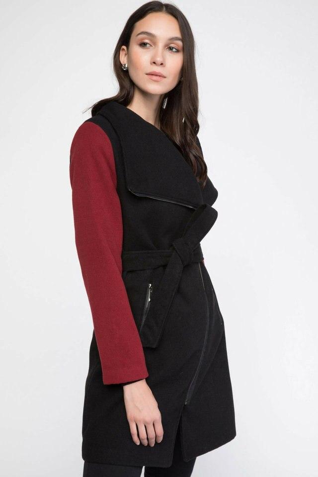 DeFacto kobieta nowa moda stałe długi, z kapturem kieszeni