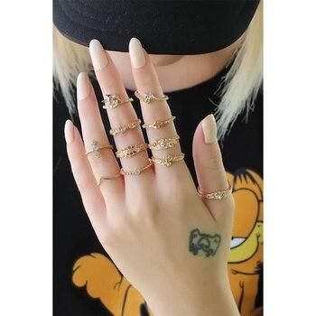 Gold Color Metal Authentic 11li Ring Set
