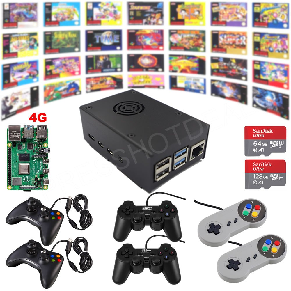Raspberry Pi 4 Model B Game Kit G4B01 4G Retro Game Console Fully Loaded Assembled