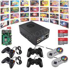 Raspberry pi 4 modelo b jogo kit g4b01 4g retro jogo console totalmente carregado montado