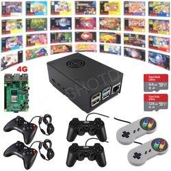 Raspberry Pi 4 Модель B игровой комплект G4B01 4G Ретро игровая консоль полностью загружена в сборе