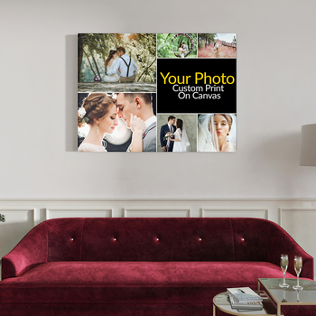 Photo Canvas Photo Collage Pringting Custom Print On Canvas Paintings Wall Art Poster Pictures For living Room Home Decor недорого
