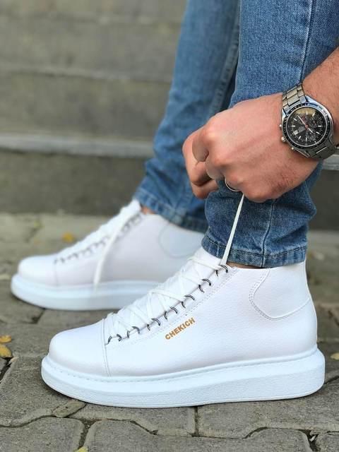 Chekich CH258 White Male Sneakers