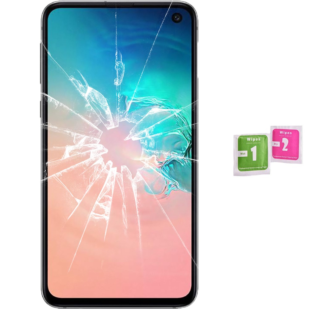Protector Screen Tempered Glass For For Samsung Galaxy S10E (Generico, Not Full SEE INFO) WIPES