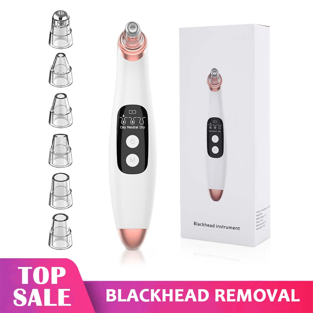 Blackhead Remover Vacuum Suction Face Pimple Acne Comedone Extractor  Microdermabrasion Facial Pores Cleaner Skin Care Tools