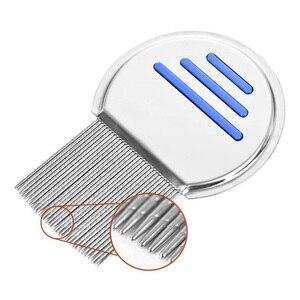 Image 5 - ステンレス鋼子供ターミネーターシラミ櫛 Nit 取り除く Headlice 超高密度歯削除ペット櫛スタイリングツール