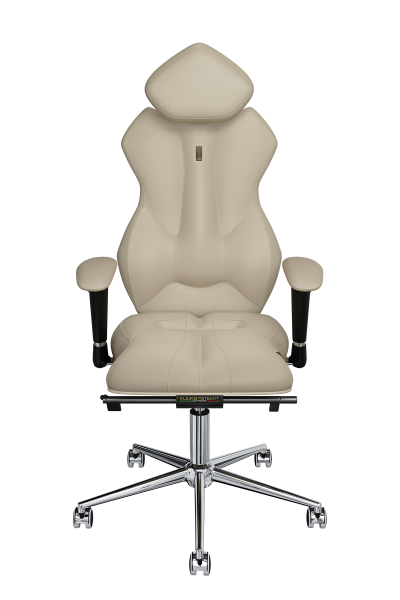 Office Chair KULIK SYSTEM ROYAL Beige Computer Chair Relief And Comfort For The Back 5 Zones Control Spine