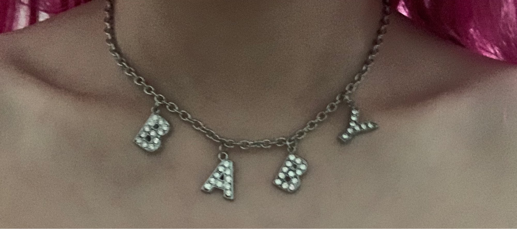 E-girl Y2K Soft girl Letter Necklace photo review