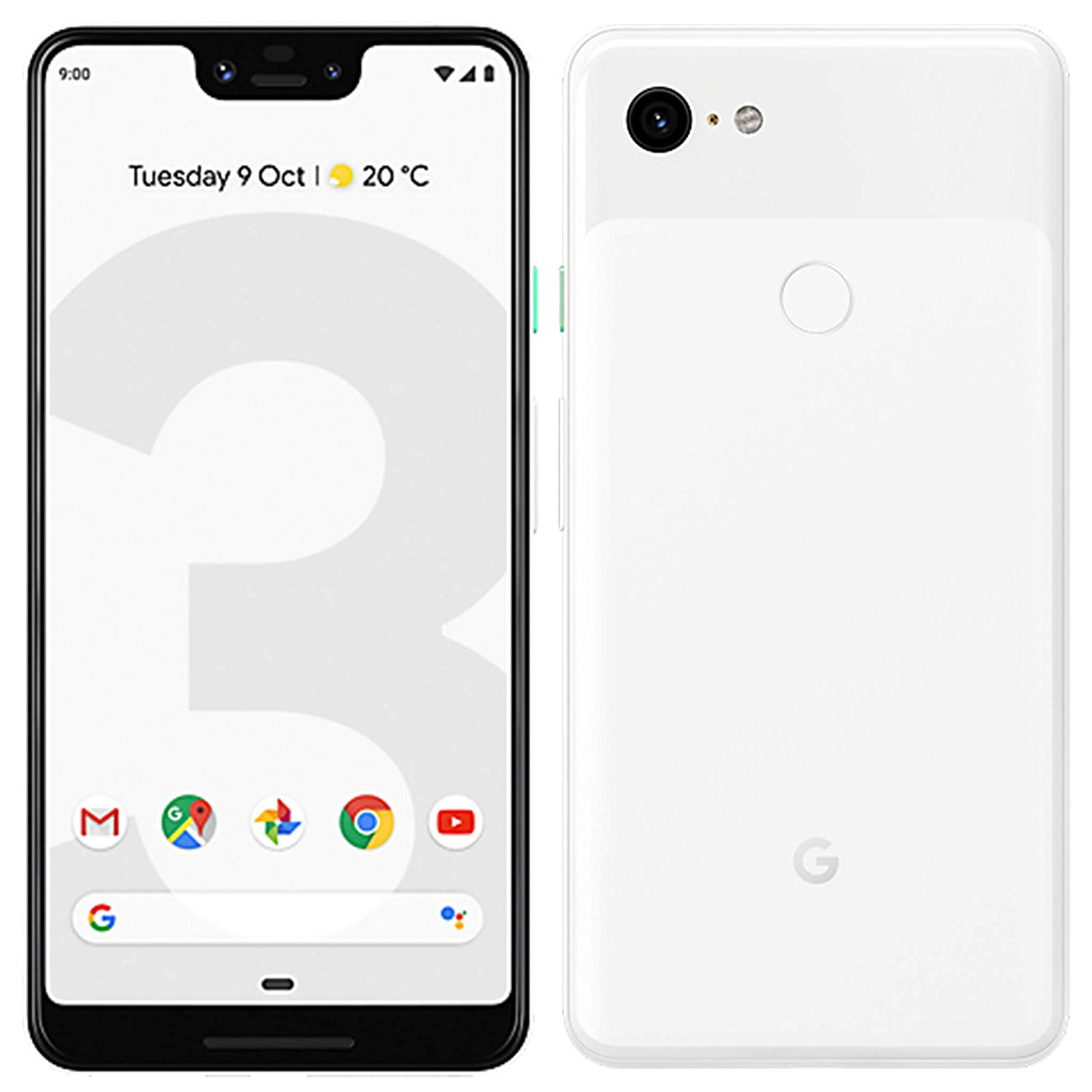 Google Pixel 3 XL, Color White (White), Band 4G/LTE/WiFi, Internal 128 GB De Memoria, 4GB De Memoria Ram, Screen