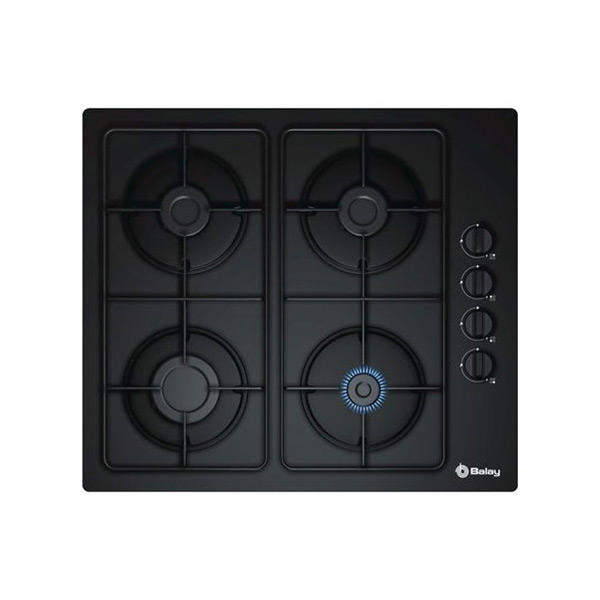 Gas Hob Balay 3ETG464MB (60 cm) Black Crystal (4 Stoves)|Cooktops| |  - title=