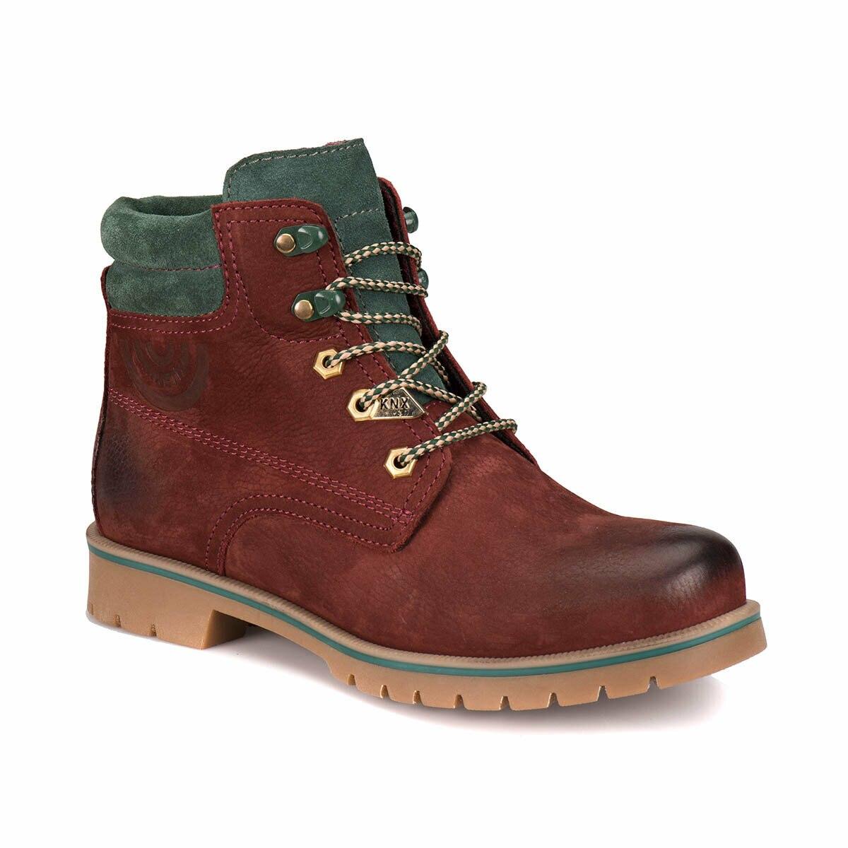 Homens Botas de Inverno Escuro Cor Vermelha FLO Outono Temporada de Moda Botas Casuais Sapatos dos homens Confortáveis Мужские ботинки A1305068 KINETIX