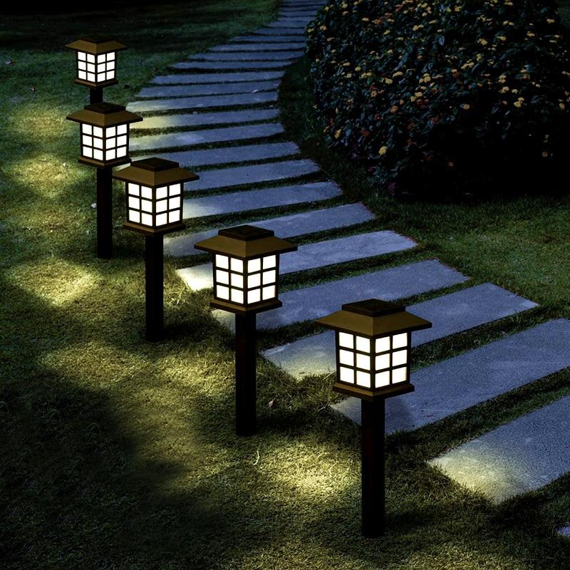 Lámpara alimentada por energía Solar para exteriores, farol LED para decoración de paisaje, patio, césped, impermeable