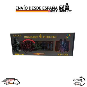 EUROXANTY®   Pack Gaming   Teclado Gaming Español    Teclado y Raton Gamer   4