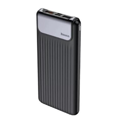 Baseus 10000 mAh power bank Quick Charge 3 0 dual USB LCD Pover bank external battery Power Bank     - title=