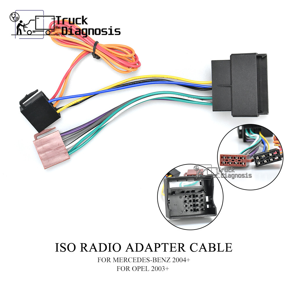 12-024 ISO RADIO ADAPTER CABLE FOR MERCEDES-BENZ 2004+/OPEL 2003+(China)