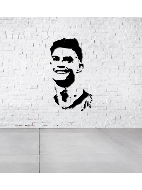 Systematic Linewallart Cristiano Ronaldo Juventus Player Metal Wall Decor Portrait. Good Companions For Children As Well As Adults