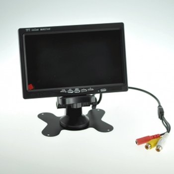 Encastrab 7 color Monitor 800x480, 2 switchable video inputs for car camera, cctv