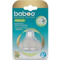 Silikon nippel für dicke flüssigkeiten Baboo Natürliche 6 monate