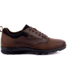 Fosco-couro marrom estiramento diário masculino sapatos casuais