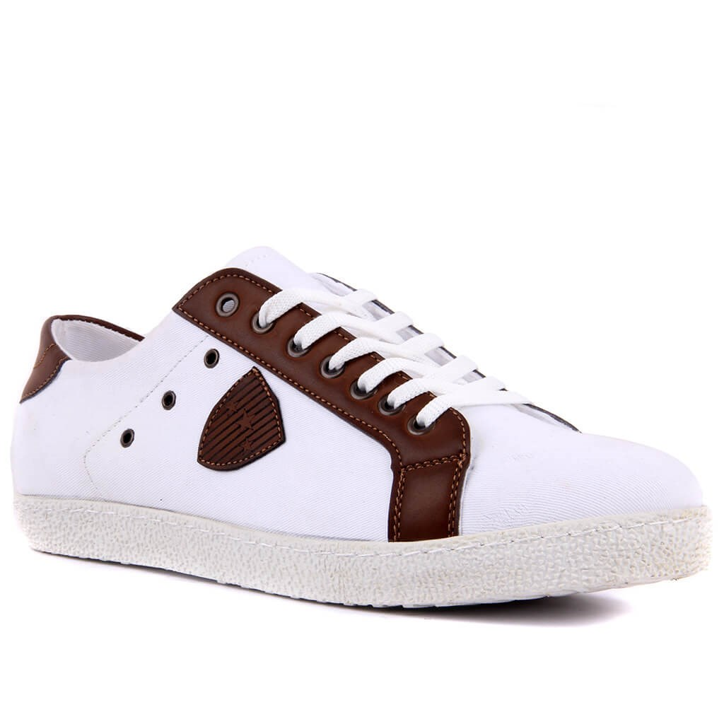Sail-Lakers White Linen Men Casual Shoes