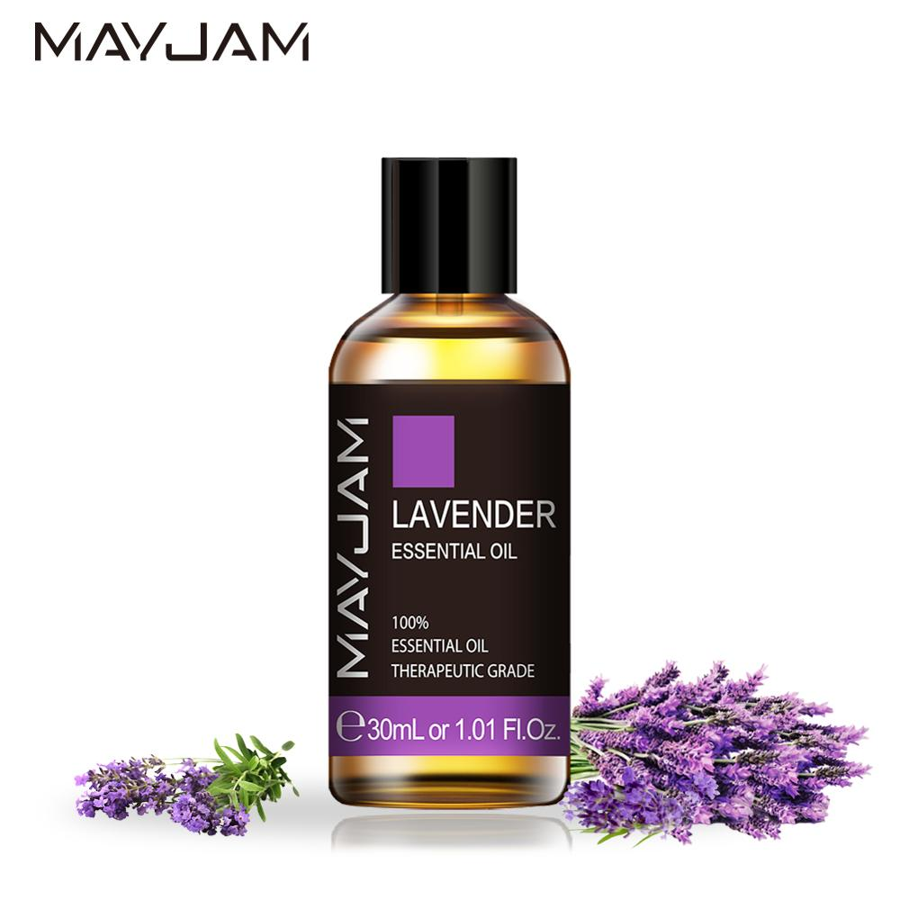 30ML Lavender Diffuser Aroma Oil Pure Natural Essential Oils Rose Eucalyptus Mint Ylang Ylang Vanilla Lemon Orange Tea Tree Oil
