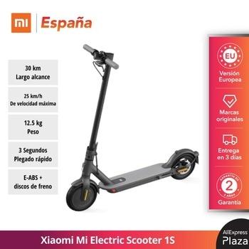 Xiaomi Mi Scooter Eléctrico 1S (25km/h Max. velocidad, 12.5kg, Cuerpo de aluminio de grado aeroespacial, E-ABS + freno de disco)