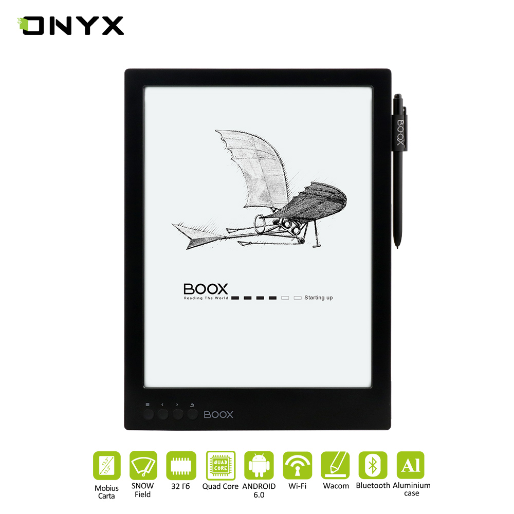 E-book ONYX BOOX MAX 2 Touch screen, Large screen, The Presence Of Wi-Fi, Support MP3, school eReader цена и фото