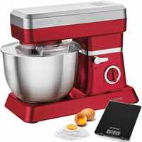 Bomann KM 398 Robot Kneading mixer kitchen confectionery 6,3 LTR 7 velocities 1200 W Red