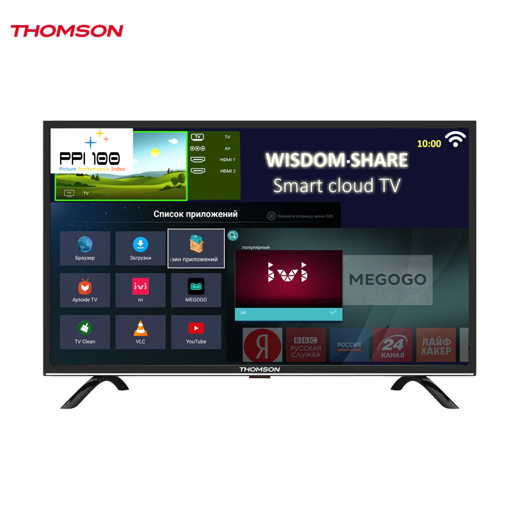 LED Television Thomson 1271605 smart tv for home dvb-t2 digital 43inch thomson t32d19dhs 01b t2 smart