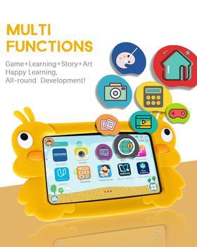 Tableta de aprendizaje para niños, 7 pulgadas, HD, con funda de silicona, USB, cargador de tableta educativa, 1 GB, 16 GB, regalo, enfa|Tabletas|   -