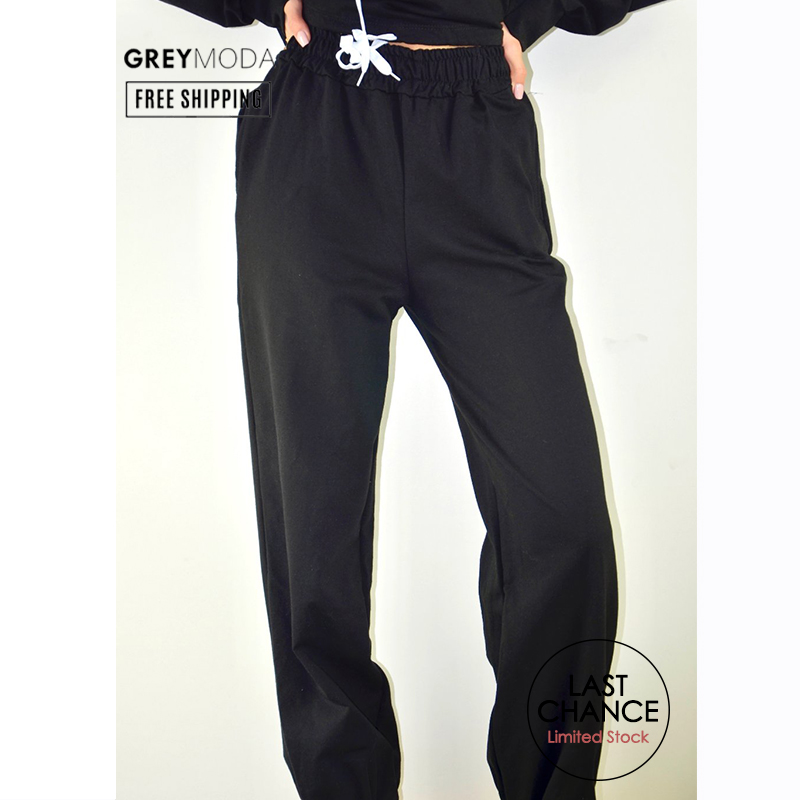 GREYMODA Sweatpants Pants Women Joggers Women Streetwear Women Clothes High Waist Pants Sweat Pants Plus Size Black Pants